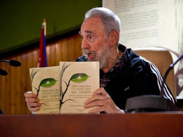 Reclusive Fidel Castro attends his own book launch --- and speaks for six hours