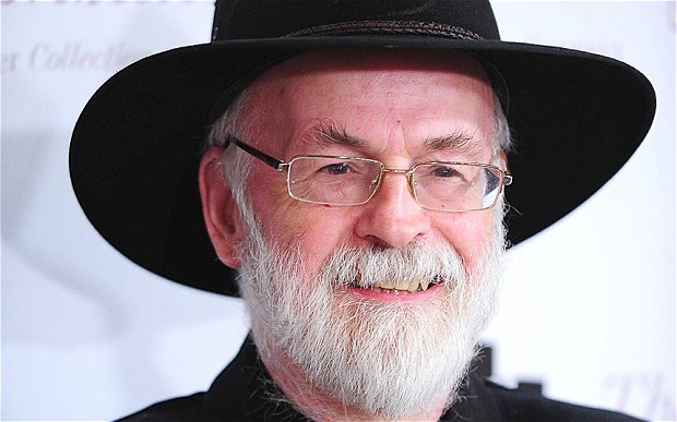 Terry Pratchett wins book award, booze, pig