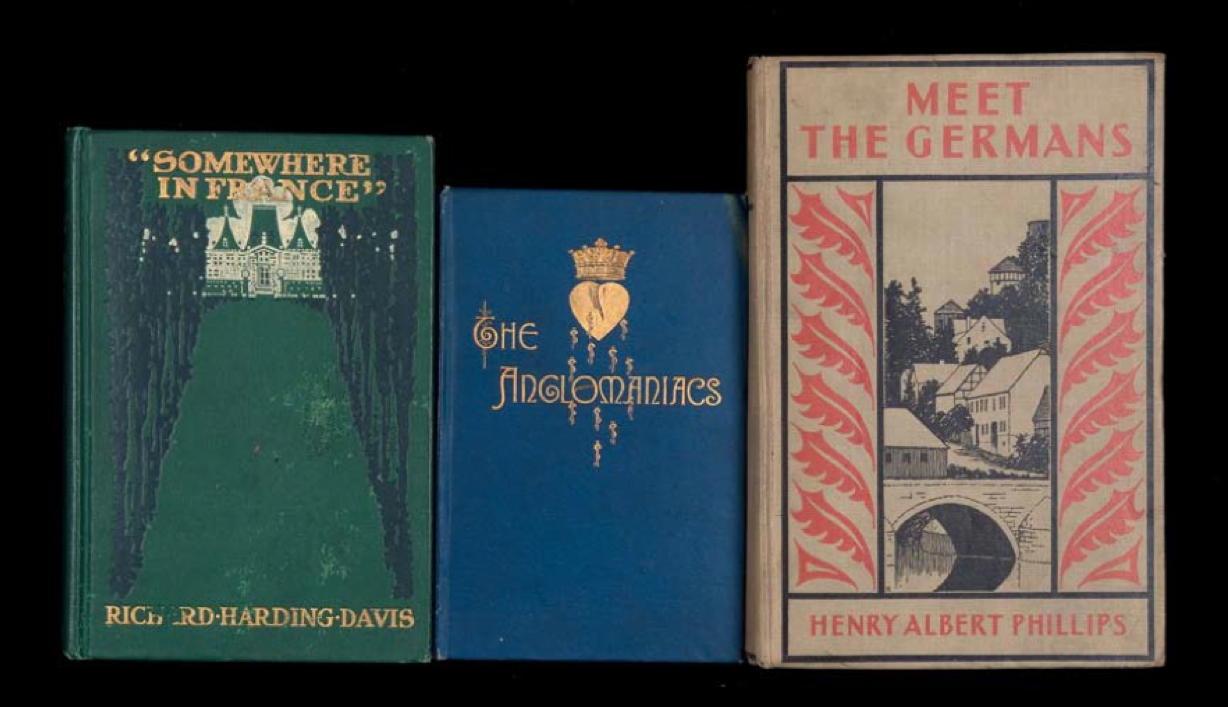 Somewhere in France, the Anglomaniacs meet the Germans: Nina Katchadourian's Sorted Books Project