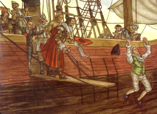 Terry Goodkind and his sword of truth takes down a pirate