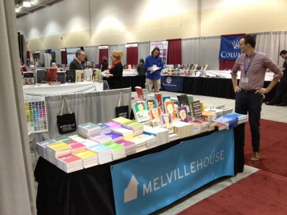 Marketing Manager Dustin examines the exhibit hall.