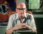 Arthur C. Clarke being sent into solar orbit on a sweet ride