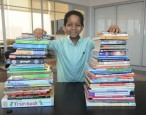 NYC first-grader collects books for homeless kids