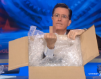 "Stephen Colbert gives Amazon the middle finger while giving one debut author the ""Colbert bump"""
