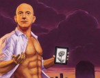 An interview with Johnny Acurso, who painted a beautiful and terrifying portrait of a shirtless and chiseled Jeff Bezos