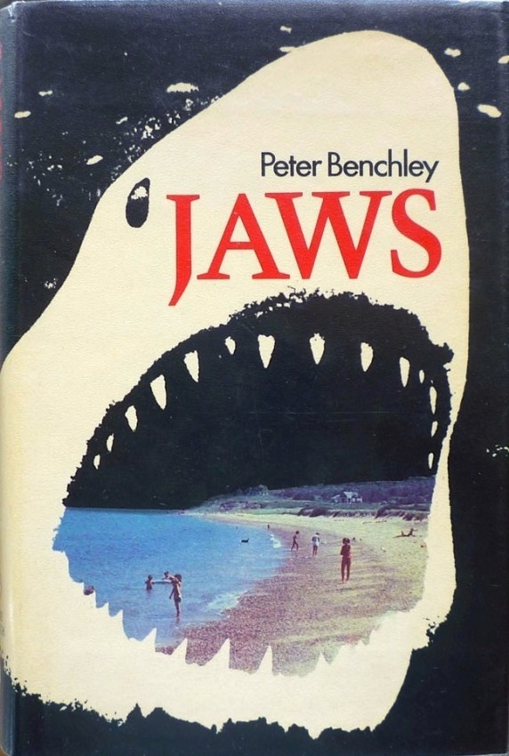 Jaws Book Cover Art : Forty years later the book jacket for quot jaws mobylives