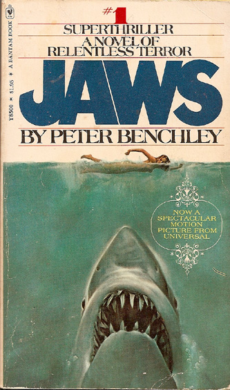 "Forty years later: the book jacket for ""Jaws"""