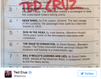 Why didn't Ted Cruz make the New York Times bestseller list?