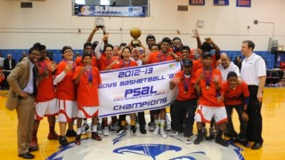 The 2013 boys basketball team at Fannie Lou Hamer Freedom High School, coached by Marc Skelton. Image via the school's website.