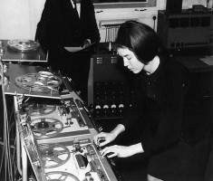 Delia Derbyshire at the BBC Radiophonic Workshop (Wikipedia)