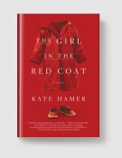 the girl in the red coat-grey