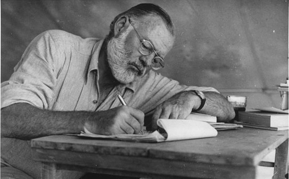 You know who had kind of a funny way of talking? Ernest Hemingway had kind of a funny way of talking.
