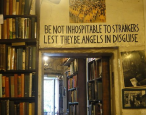 Hiding out in a bookstore in a city under attack