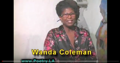Wanda Coleman at a 2010 reading. Image via YouTube.