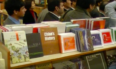 The first Chinese book section of any store in Pakistan, introduced in 2012 at Saeed Book Bank. (Image via Youtube)