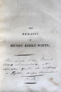 Title page of the book inscribed by Patrick Brontë. (via The Guardian)