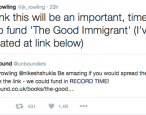 Tweet by JK Rowling helps fund a book on race and immigration