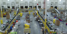 Robbinsville's Amazon warehouse. (image via Youtube)