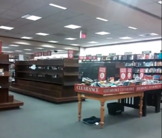 The final days of the Forest Hills B&N. (Image via Youtube)