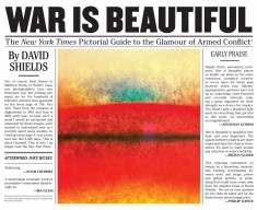 The New York Times is suing Powerhouse Books over the use of thumbnail images in the endpapers of War is Beautiful. Image via Powerhouse.