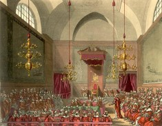 The House of Lords by Augustus Pugin and Thomas Rowlandson (via Wikipedia Commons)