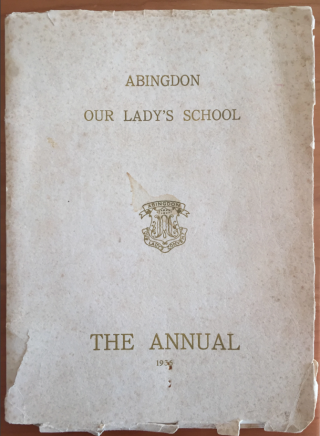 The 1936 annual of Our Lady's School in Abingdon, Oxfordshire. Photograph: Our Lady's School (via The Guardian)