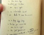 "Thom Yorke drafted ""Airbag"" in an old copy of William Blake's poems"