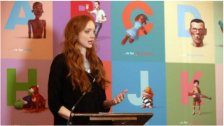 Lily Cole gives a speech on behalf of Project Literacy (via Belfast Telegraph)
