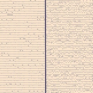 A comparison of the punctuation in Absalom, Absalom, left, and Blood Meridian, right.