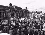 Carnegie Library protesters take to the streets, plan next steps