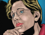 Elizabeth Warren is the heroine of a new comic book