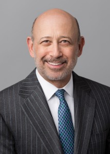Goldman Sachs CEO Lloyd Blankfein, who rose to his current position when his predecessor was tapped to run the Treasury Department. Via WikiMedia Commons.