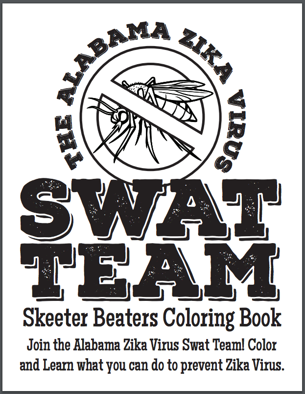"""Alabama prepares for Zika with a """"Skeeter Beaters Coloring Book"""""""