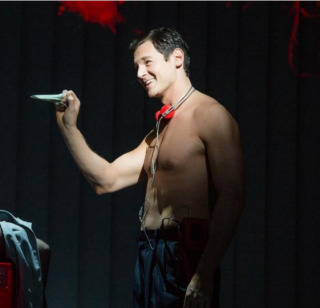 Benjamin Walker as Patrick Bateman (Jeremy Daniel, via Playbill)