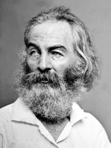 Whitman, pictured here containing multitudes. Via Wikimedia.