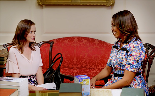 Synergy in action: Rory Gilmore brings books to the White House
