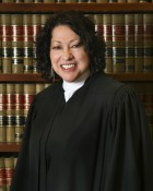 Associate Justice Sonia Sotomayor, with books. Via Wikipedia.