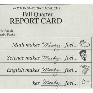 Didn't we all major in English so we could stop getting real grades?