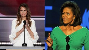 Melania Trump and Michelle Obama. Via heavy.com.