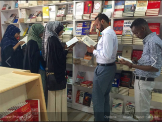 Mohamed Dubo was inspired by the Mogadishu Book Fair to open the city's first bookshop. Image via Facebook