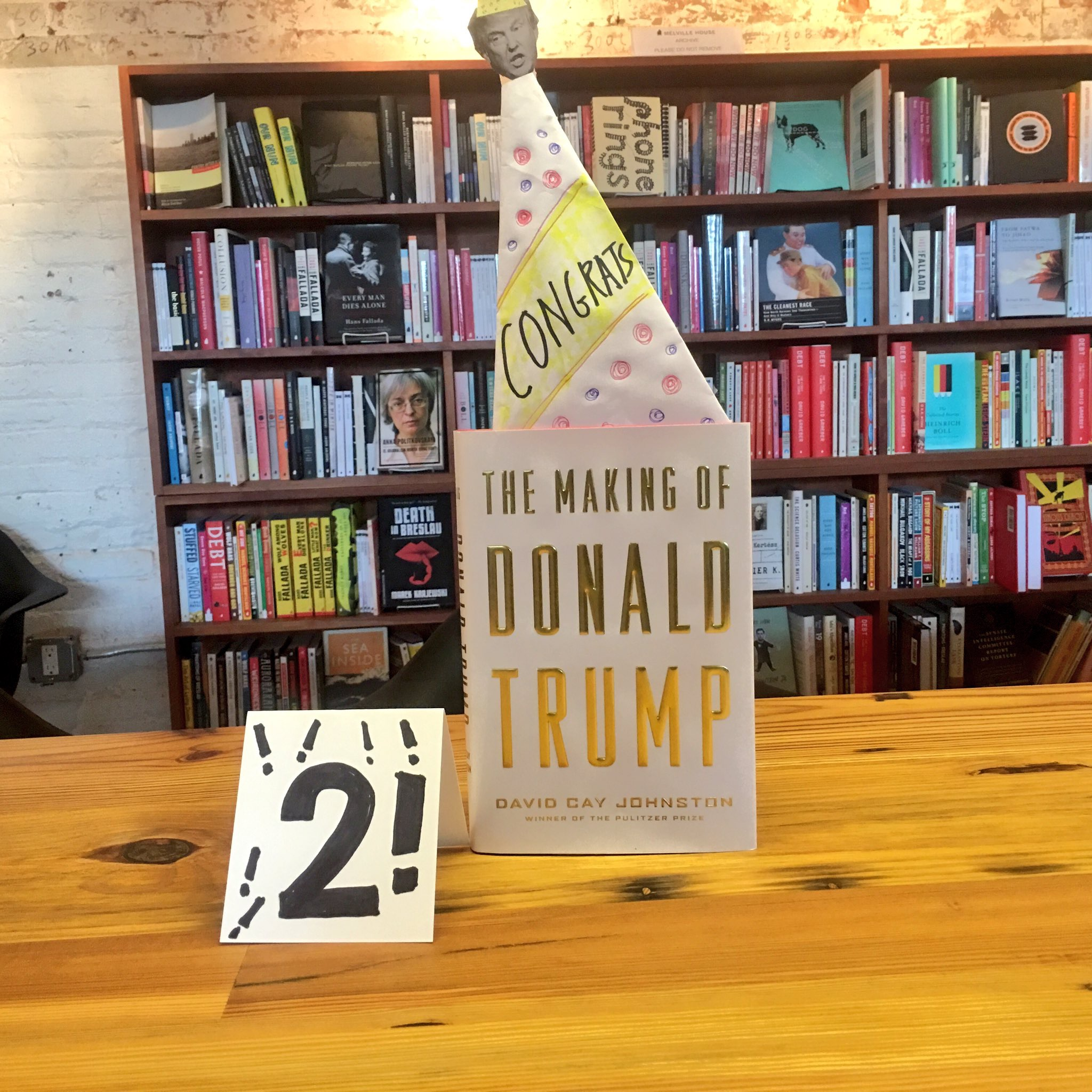 <strong>The Making of Donald Trump</strong> is a bestseller for two weeks running