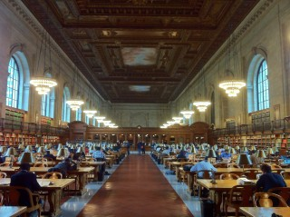 The Rose Reading Room at the New York Public Library after two years of renovations. Image via Flikr user Ran Yaniv Hartstein