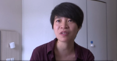 Qiu Bai, who is suing the Chinese government over homophobic content in school textbooks. (Image via Youtube)