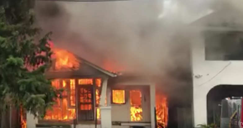 Extremely dedicated novelist runs into burning house to save manuscripts