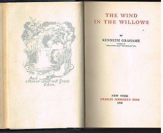The Wind In The Willows by Kenneth Grahame 1908 1st Ed. 2nd Pr. Book