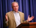 Watch Tim Kaine absolutely EVISCERATE Donald Trump's book cover design (even though his is also bad)
