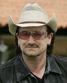Bono. Photo by Ricardo Stuckert for Agência Brasil. Via Wikimedia Commons.