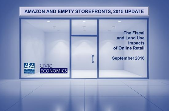 "The ABA and Civic Economics update their ""Amazon and Empty Storefronts"" study"