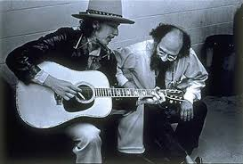 Nobel Laureate Bob Dylan being adorable with Allen Ginsberg.