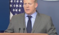 Desperate man says crazy things; everyone listens just because he's standing in the White House press room